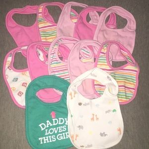 Other - 3/$25 ⭐️ 👶🏽 baby girls bibs 👶🏽